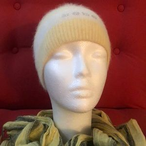 Super Soft Bebe Beanie in Yellow and White